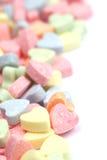 Fond de coeurs de sucrerie Photographie stock