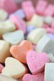 Fond de coeurs de sucrerie Images stock
