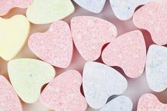 Fond de coeurs de sucrerie Images libres de droits