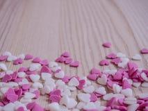 Fond de coeurs de sucrerie Photo libre de droits
