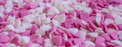 Fond de coeurs de sucrerie Image libre de droits