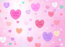 Fond de coeurs de sucrerie de jour de valentines Photo libre de droits