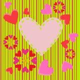 Fond de coeurs de Valentine Photos stock