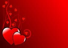 Fond de coeurs de Valentines Photo libre de droits