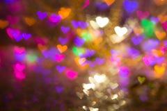 Fond de coeurs Photo abstraite le jour et l'amour du ` s de Valentine Photographie stock