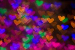 Fond de coeurs Photo abstraite le jour et l'amour du ` s de Valentine Image stock