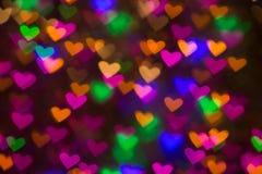 Fond de coeurs Photo abstraite le jour et l'amour du ` s de Valentine Photos stock