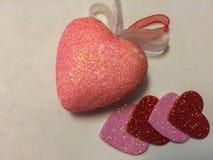 Fond de coeurs Soyez mon Valentine Photographie stock libre de droits