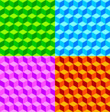 Fond de collage de cube Photos libres de droits