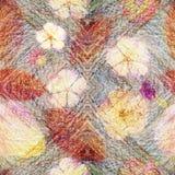 Fond de collage de style de vintage, modèle coloré sans couture pour l'album, modèle de batik avec le bourgeon floral Kaléidoscop illustration stock