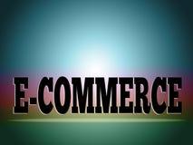 Fond de commerce électronique illustration de vecteur