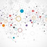 Fond de communication de technologie de couleur de réseau illustration de vecteur