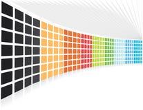 Fond de compagnie abstrait des blocs de point de vue Photographie stock libre de droits