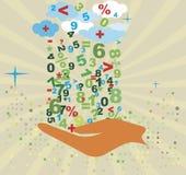 Fond de comptabilité Motif mathématique abstrait banking Image stock