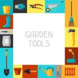 Fond de concept avec des outils et des icônes de jardin Tous pour l'illustration de jardinage d'affaires illustration de vecteur