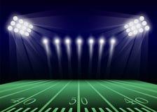 Fond de concept de champ de football américain, style réaliste illustration libre de droits