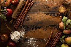 Fond de concept de cuisson de chute Images libres de droits