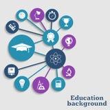 Fond de concept d'éducation Image stock