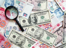 Fond de concept d'argent comptant d'argent Photos stock