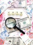 Fond de concept d'argent comptant d'argent Images stock