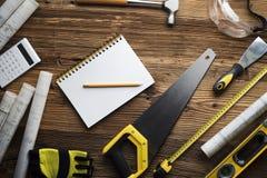 Fond de concept d'entrepreneur Endroit pour la typographie images stock