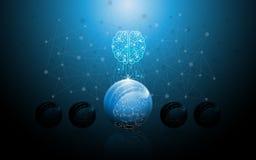 Fond de concept d'innovation de technologie de la science d'idée