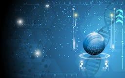 Fond de concept de la science d'innovation de technologie illustration de vecteur