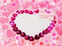 Fond de concept de vacances d'amour de jour du ` s de valentine de carte de voeux Images stock