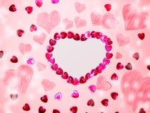 Fond de concept de vacances d'amour de jour du ` s de valentine de carte de voeux Image stock