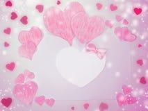 Fond de concept de vacances d'amour de jour du ` s de valentine de carte de voeux Photo libre de droits