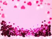 Fond de concept de vacances d'amour de jour du ` s de valentine de carte de voeux Image libre de droits