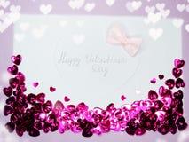 Fond de concept de vacances d'amour de jour du ` s de valentine de carte de voeux Photographie stock libre de droits