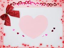 Fond de concept de vacances d'amour de jour du ` s de valentine de carte de voeux Photographie stock