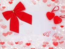 Fond de concept de vacances d'amour de jour du ` s de valentine de carte de voeux Photos libres de droits