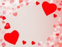 Fond de concept de vacances d'amour de jour du ` s de valentine de carte de voeux Images libres de droits
