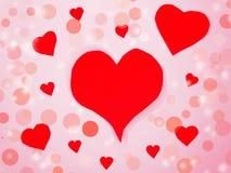 Fond de concept de vacances d'amour de jour du ` s de valentine de carte de voeux Photo stock