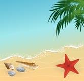 Fond de concept de vacances de plage d'été Photographie stock libre de droits