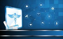 Fond de concept de vision de soins de santé de vecteur illustration de vecteur