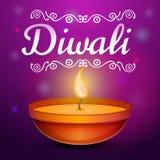 Fond de concept de Diwali, style de bande dessinée illustration stock