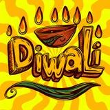 Fond de concept de Diwali, style tiré par la main illustration libre de droits