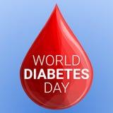 Fond de concept de jour de diabète du monde, style de bande dessinée illustration libre de droits