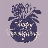 Fond de concept de jour de thanksgiving d'automne, style simple illustration libre de droits