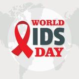 Fond de concept de Journée mondiale contre le SIDA, style plat photos stock