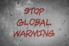 Fond de concept de réchauffement global d'arrêt illustration de vecteur