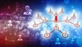 Fond de concept de réseau d'affaires, fond abstrait de technologie de Digital illustration libre de droits