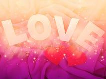 Fond de concept de vacances d'amour de jour du ` s de valentine de carte de voeux Photos stock