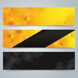 Fond de conception de bannière de collection, jaune et noir Images libres de droits