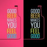 Fond de conception de bouteille à bière de vecteur avec un frais Image stock