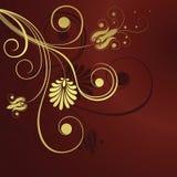Fond de conception de fleur d'or illustration libre de droits