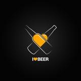 Fond de conception de l'avant-projet de bouteille à bière illustration stock